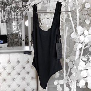 ekAttire | Tanked Charcoal Bodysuit